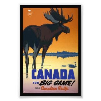 Affiche vintage de voyage du Canada Photographe