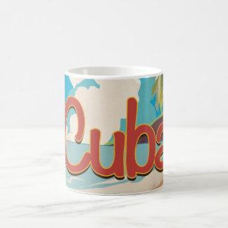 Affiche vintage de voyage du Cuba Mug Blanc