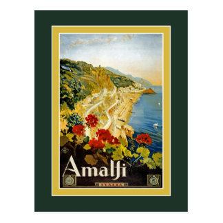 Affiche vintage de voyage pour la carte postale de