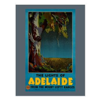 Affiche vintage de voyage reconstituée par carte postale