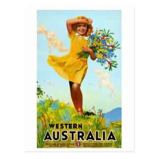 Affiche vintage de voyage reconstituée par cartes postales