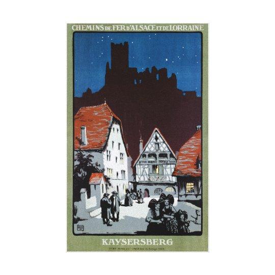 Affiche vintage de voyage reconstituée par toiles