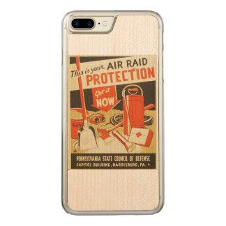 Affiche vintage de WPA de la défense de protection