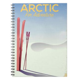 Affiche vintage d'exploration d'aventure de ski carnet
