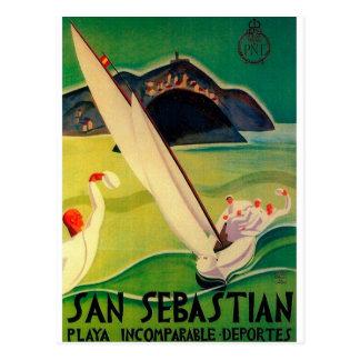 Affiche vintage Donostia San Sebastian de voyage Carte Postale