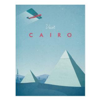 Affiches vintages de voyage - le Caire - carte