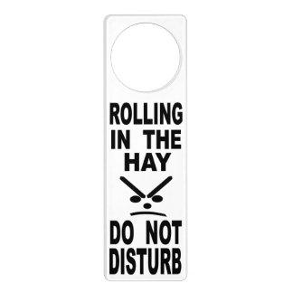 Affichettes De Porte Le roulement dans le foin ne dérangent pas