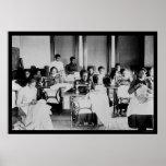 Afro-américain 1900 d'ouvrière couturière affiches