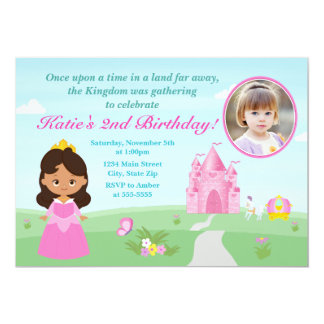 Afro-américain de princesse Birthday Invitation