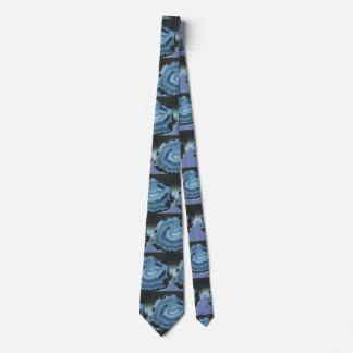 Agate bleue cravate
