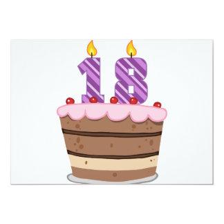 Âge 18 sur le gâteau d'anniversaire carton d'invitation  12,7 cm x 17,78 cm