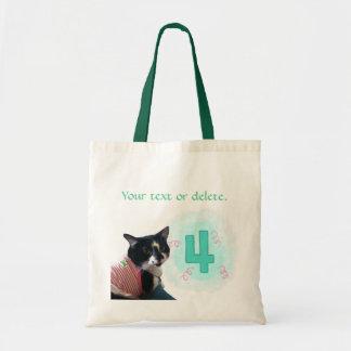 Âge de chat de smoking quatre sacs de toile