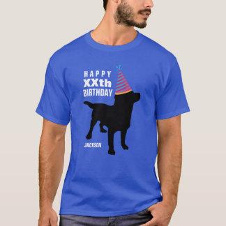 Âge de chien noir drôle de laboratoire et t-shirt