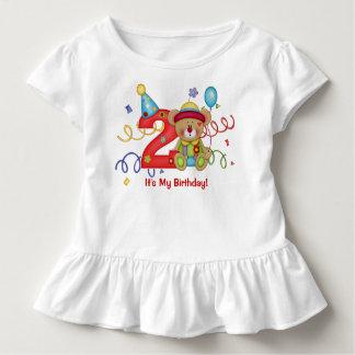 Âge mignon 2 de T-shirt d'anniversaire d'ours