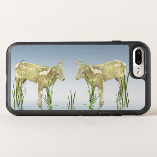 Agneaux avec l'animal de ferme d'herbe verte coque otterbox symmetry pour iPhone 7 plus