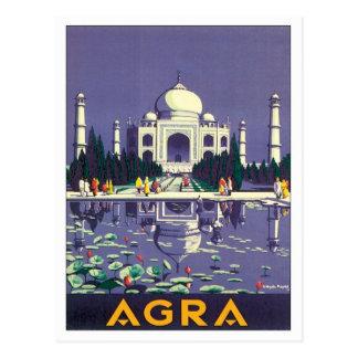 Âgrâ vintage le Taj Mahal Inde Carte Postale