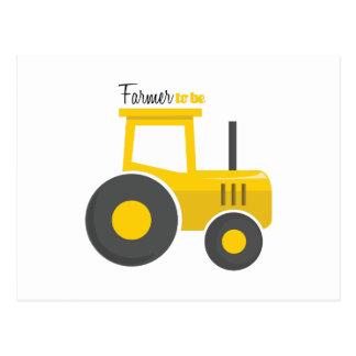 Agriculteur à être carte postale