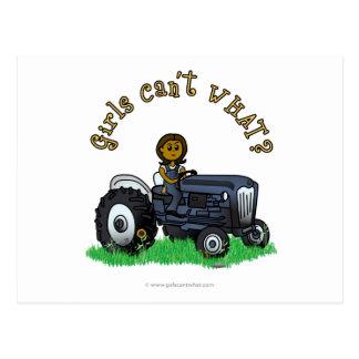 Agriculteur bleu-foncé carte postale