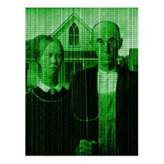 Agriculteur Matrix d'OMG GMO Carte Postale