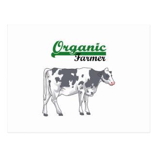 Agriculteur organique carte postale