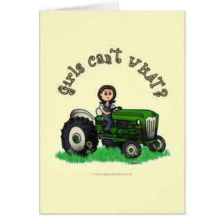 Agriculteur vert clair carte