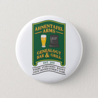 Ahnentafel arme la barre et le gril de généalogie badge rond 5 cm