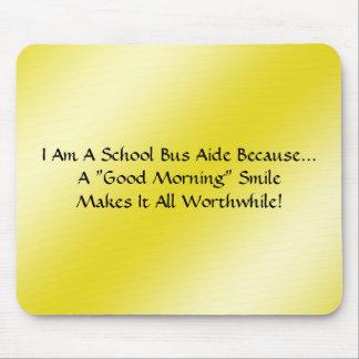 Aide d'autobus un sourire bonjour tapis de souris