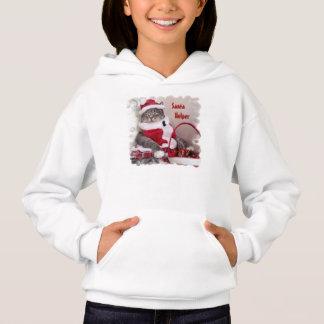 Aide de Père Noël avec le sweat - shirt à capuche
