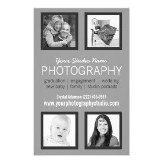 Aide professionnelle d'affaires de photographe prospectus 14 cm x 21,6 cm