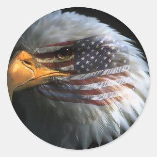 Aigle chauve américain avec des autocollants de