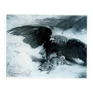Aigle et Lapin par Léon Bonnat Carte Postale