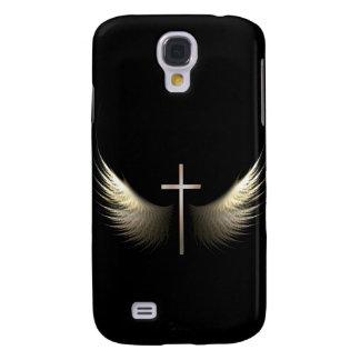 Ailes chrétiennes de Saint-Esprit d'inspiration Coque Galaxy S4
