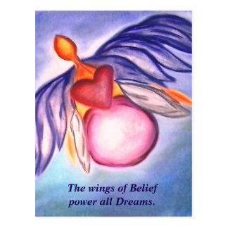 Ailes de carte postale de croyance