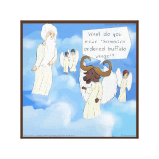 Ailes drôles de Buffalo dans la copie de toile de
