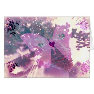 Ailes mystiques carte de vœux