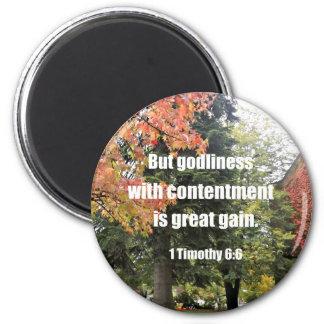 Aimant 1 6:6 mais piété de Timothy avec la satisfaction