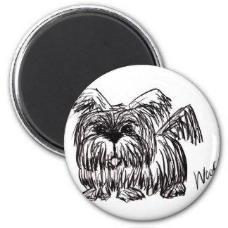 Aimant Aboyez un chien de balai de poussière