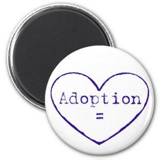 Aimant Adoption = amour dans le bleu