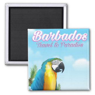 Aimant Affiche de voyage de perroquet des Barbade