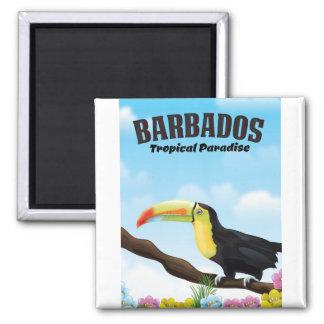 Aimant Affiche tropicale de voyage de paradis des Barbade