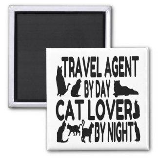 Aimant Agent de voyage d'amoureux des chats