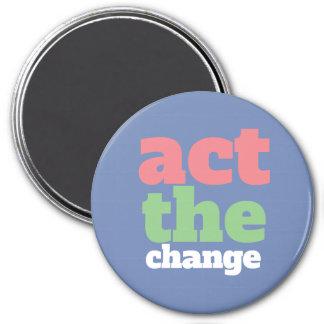 Aimant Agissent le changement, changent - police et