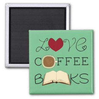 Aimant Amour, café, livres - choisissez la couleur