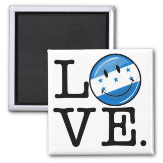 Aimant Amour de drapeau de sourire du Honduras