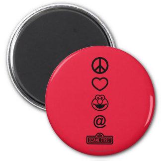 Aimant Amour Elmo de paix