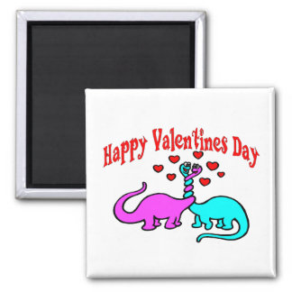Aimant Amour heureux de dinosaure de jour de Valentines