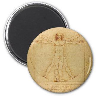 Aimant Anatomie humaine, homme de Vitruvian par Leonardo