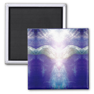 Aimant Ange violet argenté