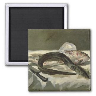 Aimant Anguille de Manet | et mulet rouge, 1864
