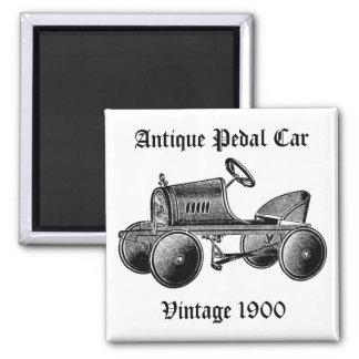 Aimant antique de voiture de pédale du cru 1900